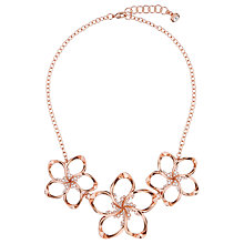 Buy Ted Baker Bluum Swarovski Crystal Large Blossom Necklace, Rose Gold Online at johnlewis.com