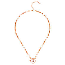 Buy Karen Millen Quantum Swarovski Crystal T-Bar Chain Necklace, Rose Gold Online at johnlewis.com