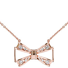 Buy Ted Baker Jaio Jewelled Bow Pendant Necklace Online at johnlewis.com