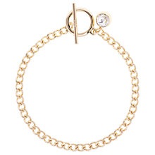 Buy Karen Millen Quantum Swarovski Crystal T-Bar Chain Bracelet Online at johnlewis.com