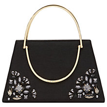 Buy Ted Baker Jacki Embellished Metal Handle Clutch Bag, Black Online at johnlewis.com