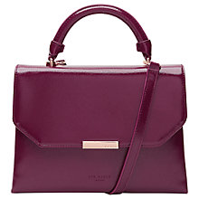 Buy Ted Baker Darnece Envelope Across Body Bag, Deep Purple Online at johnlewis.com