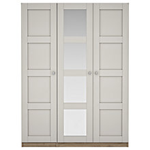 Buy House by John Lewis Mix it Chrome Knob 4 Panel Mirrored Triple Wardrobe, Matt Smoke/Grey Ash Online at johnlewis.com