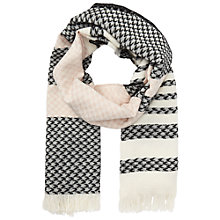Buy Miss Selfridge Patterned Stripe Scarf, Pink Online at johnlewis.com