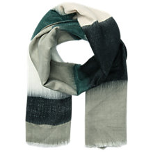 Buy Miss Selfridge Ombre Scarf, Green Online at johnlewis.com