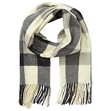 Buy Miss Selfridge Gingham Print Scarf, Black / White Online at johnlewis.com