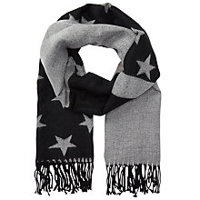 Buy Miss Selfridge Star Scarf, Black Online at johnlewis.com