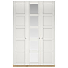 Buy House by John Lewis Mix it Tall Chrome  Knob 5 Panel Triple Wardrobe, Matt White/Natural Oak Online at johnlewis.com