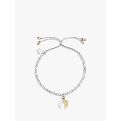 Estella Bartlett Liberty Wings Beaded Bracelet, Silver/Gold