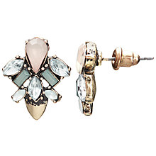 Buy John Lewis Glass Crystal Fashion Drop Earrings, Blush/Duck Egg Online at johnlewis.com