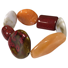 Buy One Button Mixed Large Beads Stretch Bracelet, Wine/Multi Online at johnlewis.com