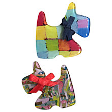 Buy One Button Mummy and Baby Scotty Dog Brooch, Multi Online at johnlewis.com