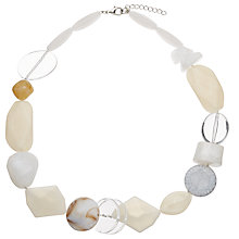 Buy John Lewis Mixed Bead Necklace, Cream/Clear Online at johnlewis.com