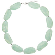 Buy John Lewis Large Bead Short Necklace, Mint Online at johnlewis.com