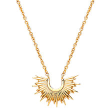 Buy Estella Bartlett Half Sunburst Pendant Necklace, Gold Online at johnlewis.com