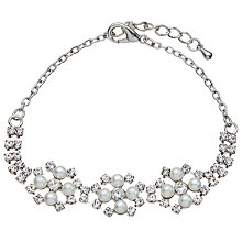 Buy John Lewis Faux Pearl and Cubic Zirconia Bracelet, Silver Online at johnlewis.com
