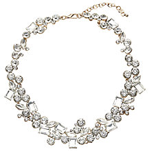 Buy John Lewis Statement Large Cubic Zirconia Collar Necklace, Gold/Clear Online at johnlewis.com