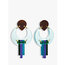 Buy Toolally The Peacock Drop Earrings, Aqua/Multi Online at johnlewis.com
