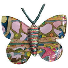 Buy One Button Butterfly Brooch, Multi Online at johnlewis.com