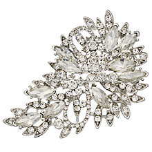 Buy John Lewis Glass Crystal Large Teardrop Brooch, Silver Online at johnlewis.com