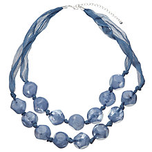 Buy John Lewis Beaded Necklace, Cornflower Blue Online at johnlewis.com