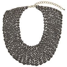 Buy John Lewis Chain Metal Short Statement Necklace, Gunmetal Online at johnlewis.com