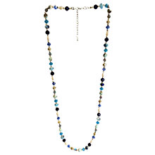 Buy One Button Super Long Faceted Bead Necklace, Blue/Multi Online at johnlewis.com