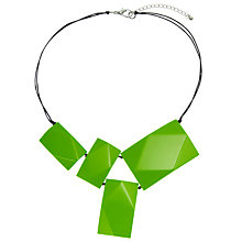 Buy One Button 4 Large Rectangular Element Statement Necklace, Lime Online at johnlewis.com