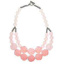 Buy John Lewis Large Bead Layered Necklace, Blush Online at johnlewis.com