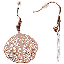Buy John Lewis Leaf Drop Earrings, Rose Gold Online at johnlewis.com