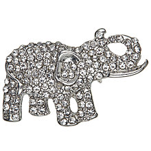 Buy John Lewis Giraffe and Elephant Brooch, Pack of 2, Silver Online at johnlewis.com