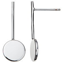 Buy John Lewis Stems and Circles Drop Earrings, Silver Online at johnlewis.com
