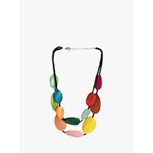 Buy One Button Wood Discs Layered Necklace, Multi Online at johnlewis.com