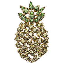 Buy John Lewis Glass Crystal Pineapple Brooch, Yellow/Green Online at johnlewis.com