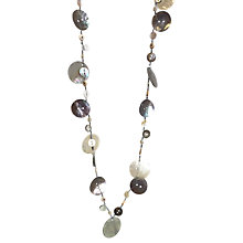 Buy One Button Super Long Mother of Pearl Mixed Disc Necklace, Natural Online at johnlewis.com