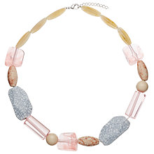 Buy John Lewis Mixed Bead Necklace, Pastel Pink/Multi Online at johnlewis.com