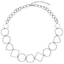 Buy John Lewis Circle and Square Long Necklace, Silver Online at johnlewis.com