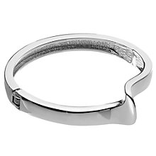 Buy John Lewis Curved Detail Hinged Bangle, Silver Online at johnlewis.com