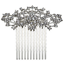 Buy John Lewis Cubic Zirconia Small Hair Slide, Silver Online at johnlewis.com