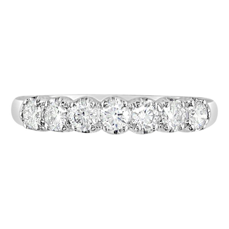 EWA EWA 18ct White Gold Diamond Half Eternity Ring, 1.21ct