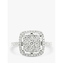 Buy EWA 18ct White Gold Diamond Cluster Engagement Ring, 0.60ct Online at johnlewis.com
