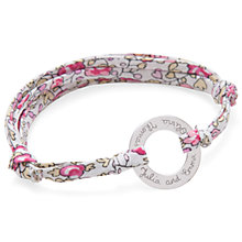 Buy Merci Maman Personalised Sterling Silver Eternity Bracelet, Eloise Pink Online at johnlewis.com