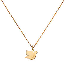 Buy Merci Maman Personalised Dove Pendant Chain Necklace Online at johnlewis.com