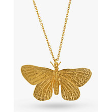 Buy Alex Monroe Butterfly Pendant Necklace, Gold Online at johnlewis.com