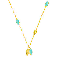 Buy Auren Marquise Hammered Detail Pendant Necklace, Gold/Amazonite Online at johnlewis.com