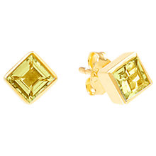 Buy Auren Topaz Square Stud Earrings, Yellow Online at johnlewis.com