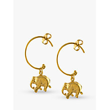Buy Alex Monroe Indian Elephant Hoop Earrings, Gold Online at johnlewis.com
