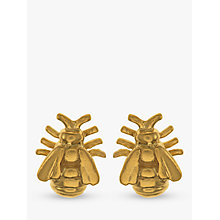 Buy Alex Monroe Bee Stud Earrings, Gold Online at johnlewis.com