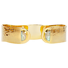 Buy Auren Labradorite Hammered Cuff, Gold/Grey Online at johnlewis.com