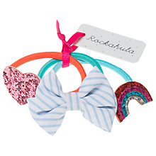 Buy Rockahula Children's Rainbow, Heart and Bow Hair Bobbles, Pack of 3, Multi Online at johnlewis.com